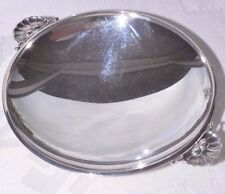 BOWL  PLATE  WITH HANDLES GEORG JENSEN STERLING SILVER WITH 13 CM 5,2 INCH 355 G