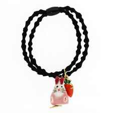 Pink Rabbit and Red Carrot Baby Girl Elastic Hair Band Wrap Accessories HA257