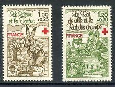 STAMP / TIMBRE FRANCE N° 2024/2025 ** LE LIEVRE ET LA TORTUE FAUNE / LE RAT