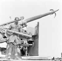 WW2 Photo WWII  Destroyed German 88mm Gun  in Egypt 1944 World War Two  / 4140