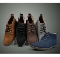 VINTAGE MENS ANKLE BOOTS DESERT SUEDE CASUAL DRESS LACE UP LINED CHUKKA SHOES SZ