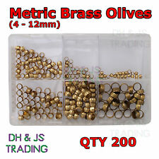 Assorted Box of Brass Olives Metric Barrel 4 - 12mm Qty 200 Compression Olive
