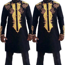 Mens African Dashiki Print T-Shirt Tribal Black Tee Succinct Hippie Tops  plas