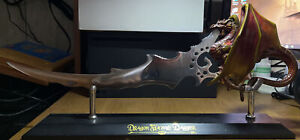 """The Noble Collection - """"Dragon Flame Dagger"""" With Stand"""