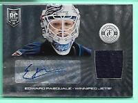 Edward Pasquale 2013-14 Totally Certified Jersey Autograph Rc Winnipeg Jets