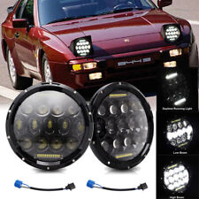 DOT 7inch Round LED Headlights Bulb DOT Headlamp DRL Fit for Porsche 944 Pair