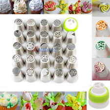 24Pcs Russian Flower Icing Piping Nozzle Cake Decorating Tips Pastry Baking Tool