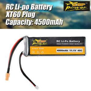 ZOP Power 3S 11.1V 45C 4500mAh Lipo Battery XT60 Plug for RC Racing Car Drone UK
