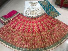SilkPink Lehenga Choli Designer Indian Ethnic Lengha Chunri Sari Bridal Wear