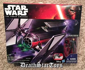 Star Wars The Force Awakens First Order Special Forces Tie Fighter & Pilot Finn