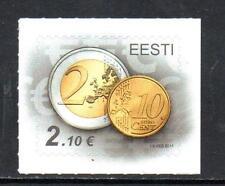 Estonia MNH 2011 Accession to the Euro - Self Adhesive Stamp