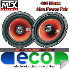 Fiat Punto 06-14 MTX 16cm 6.5 Inch 480 Watts 2 Way Rear Door Car Speakers5 DOOR