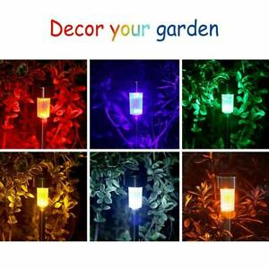 NEW Outdoor Stainless Steel LED Solar Power Light With White & Color Changing