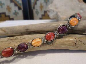 Gorgeous Jay King DTR Sterling Southwest Spiny Kyanite Reversible Bracelet