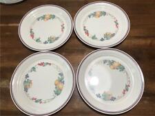 "Corelle Corning Lot 4 Dinner Plates Abundance Fruit Design 10"""