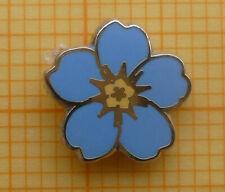 Masonic Lapel Pin Badge - Yellow Blue Enamel - Forget-me-not - 9 mm