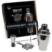 5tlg. Edelstahl Cocktail Set Shaker Bar Zubehör Mixer Messbecher Cocktailset