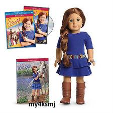 American Girl SAIGE DOLL + BOOK + Saige Paints the Sky DVD bonus FAST SHIP sage