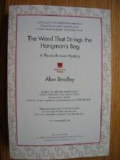 Alan Bradley Weed Strings Hangman's Bag US Proof SIGNED