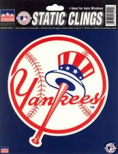 12 New York Yankees 6 inch Static Cling Stickers