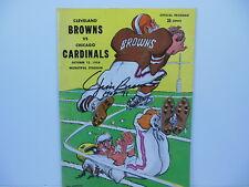 JIM BROWN SIGNED CLEVELAND BROWNS CHICAGO CARDINALS PROGRAM 10/12/1958 PSA/DNA