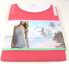 Margaritaville Women's 2 Pack Coral and White Tank Tops Size Small
