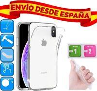 "FUNDA DE GEL TRANSPARENTE CARCASA PARA APPLE IPHONE XS MAX ""6.5"" GAMUZAS"