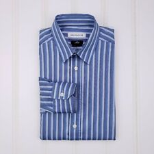 Versace Collection Moda Shirt Blue Striped 15.5 39 Mens Size Multicolor Cotton