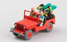 JEEP WILLYS MB 1946 COMICS TINTIN 1:43 COLLECTION ATLAS MODEL CAR RESIN