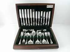 CANTEEN of RATTAIL SILVER CUTLERY for 6 people Sheffield 1992 Boxed 50 pieces
