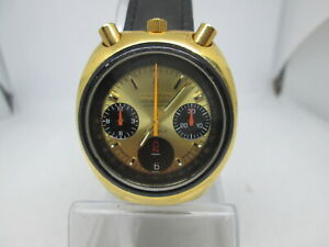 VINTAGE CITIZEN BULLHEAD DAYDATE CHRONOGRAPH GOLDPLATED AUTOMATIC MENSWATCH