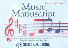 Music Manuscript No 2 ~ 24 Page 6 Stave Composing Theory A5 Paper Pad Book S143