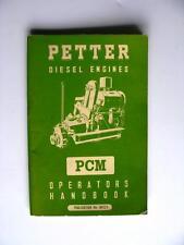 PETTER PCM - Diesel Engine Handbook - c1960 - #8012/1