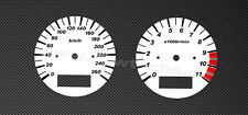 Suzuki GSX 1400 GSX1400 Tachoscheiben Tacho Gauge kmh Speedometer Dial Face Set