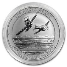 2016 Tuvalu Pearl Harbor 75th Anniversary 9999 Silver 1 oz Coin in Mint Capsule