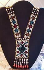 Southwest Multicolor Bead Ceremonial Necklace