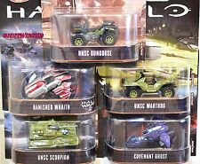 HOT WHEELS RETRO ENTERTAINMENT 2017 SET OF 5 HALO UNSC SCORPION WARTHOG GUNGOOSE
