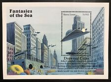 Sierra Leone Fantasies Of The Sea Stamps '96 Mnh City Under Polar Ice Melt Scifi