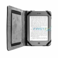 PREMIUM BLACK PU LEATHER CASE COVER WALLET WITH HANDGRIP FOR KOBO GLO