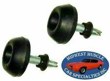 66-77 Pontiac GTO Correct Rubber Hood Adjuster Adjusting Bumper Bump Stop 2pc QI