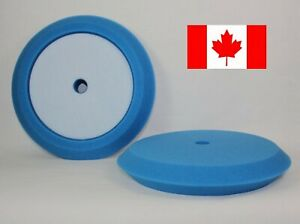 """Hi-Tech Hi Buff 8 Inch Slant Foam Buffing Pads 8"""" Pad Polishing Waxing Compound"""
