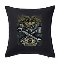 Hotrod 58 Cushion Cover Pillow Case Man Cave American Custom Car Mechanic 65