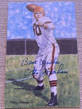 OTTO GRAHAM SIGNED GOAL LINE ART~SOLD OUT SERIES ONE~FOOTBALL HOF AUTO~BROWNS