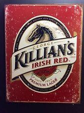 Killian's Irish Red TIN SIGN Label Logo Bar Vtg Metal Decor Pub