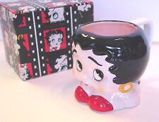"BETTY BOOP MUG Classic Bust 4"" Tall Ceramic Cup Vandor Limelight Series 1994 NOS"