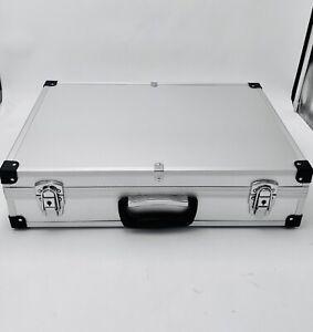Alukoffer Transportkoffer Werkzeugkiste Sortimentskoffer Silber 50 x 35 x 12cm