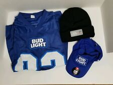 Bud Light Football Jersey And Hats Lot Bundle