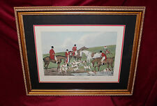 "Gallery Framed & Mounted Print by H. Alken, ""Fox Hunting the Death"" w/COA"