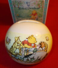 More details for winnie the pooh money box a christening gift royal doulton