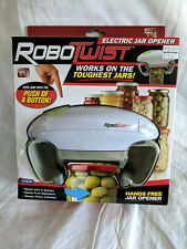 RoboTwist Electric Jar Opener - Hands Free - Jars - Bottles - Press & Works